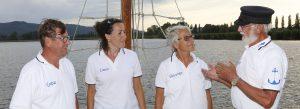 Carola und Jürgen Habenicht mit Crew der Seewiefke