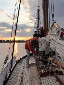 Arbeiten am Vorschiff