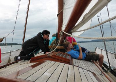 Ausfahrt mit drei Generationen an Bord