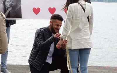 Heiratsantrag mit Wind und Donnerschlag